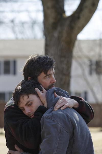 "This image released by Roadside Attractions and Amazon Studios shows Kyle Chandler, left, and Casey Affleck in a scene from ""Manchester By The Sea."" (Claire Folger/Roadside Attractions and Amazon Studios via AP)"