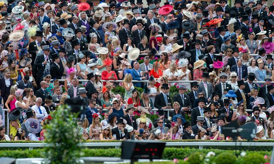 Fans at the parade ring in 2019.