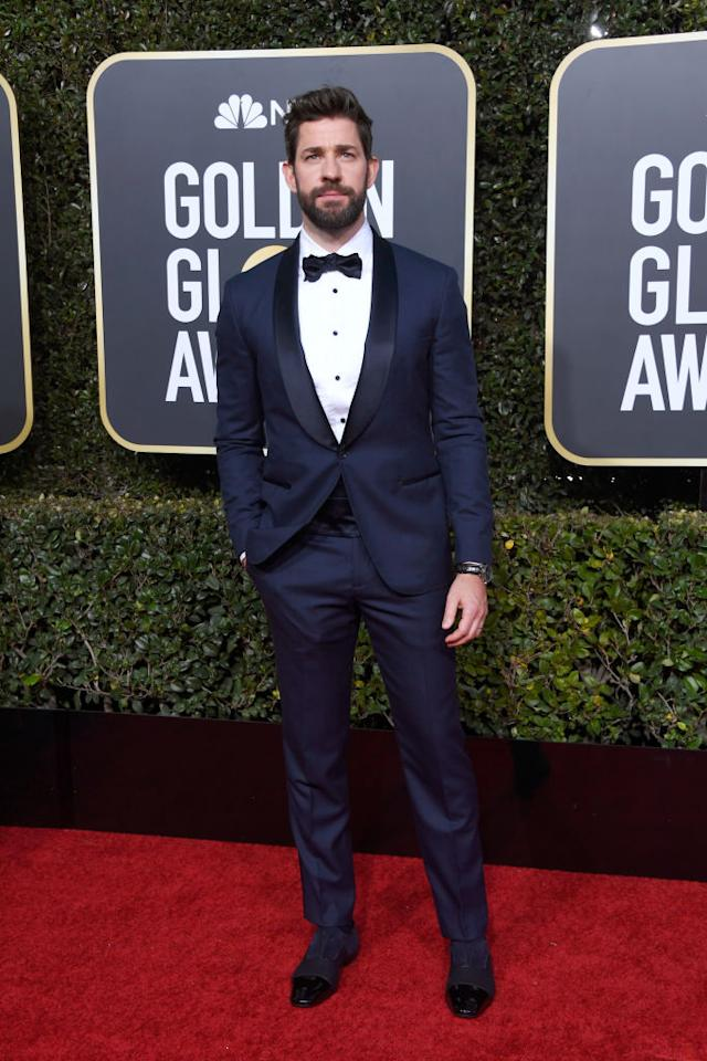 <em>A Quiet Place</em> director and star John Krasinski attends the 76th Annual Golden Globe Awards at the Beverly Hilton Hotel in Beverly Hills, Calif., on Jan. 6, 2019. (Photo: Getty Images)