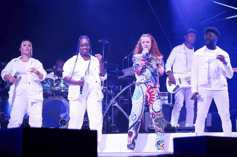 Photo by: zz/KGC-247/STAR MAX/IPx 2019 8/25/19 Jess Glynne performing in concert at The Big Feastival held at Alex James' Farm in The Cotswolds, Chipping Norton, Kingham, Oxfordshire, England, UK.
