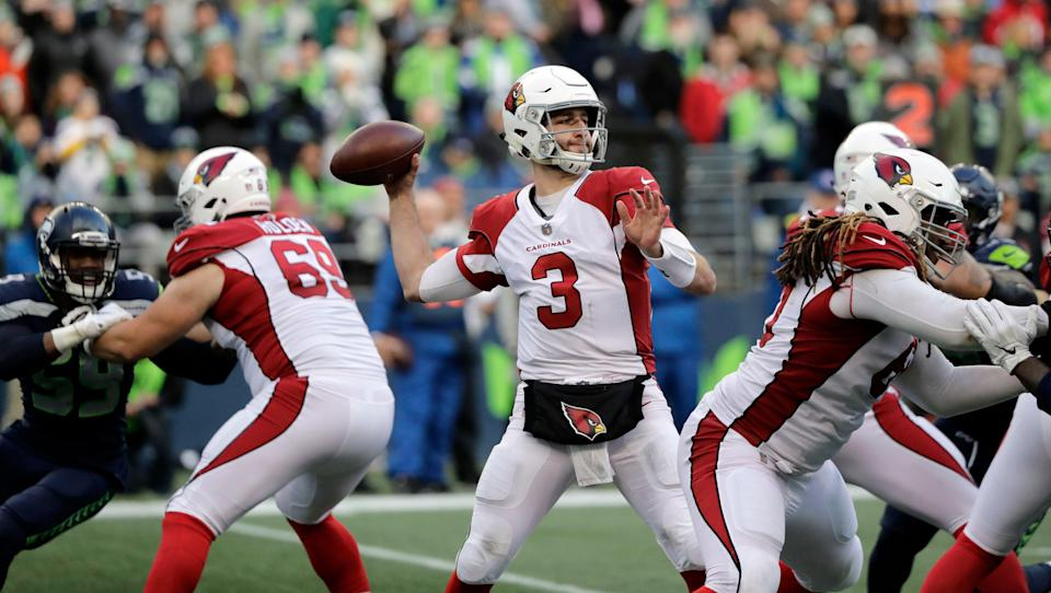 Arizona Cardinals quarterback Josh Rosen drops back to pass against the Seattle Seahawks during the second half of an NFL football game, Sunday, Dec. 30, 2018, in Seattle. (AP Photo/Ted S. Warren)