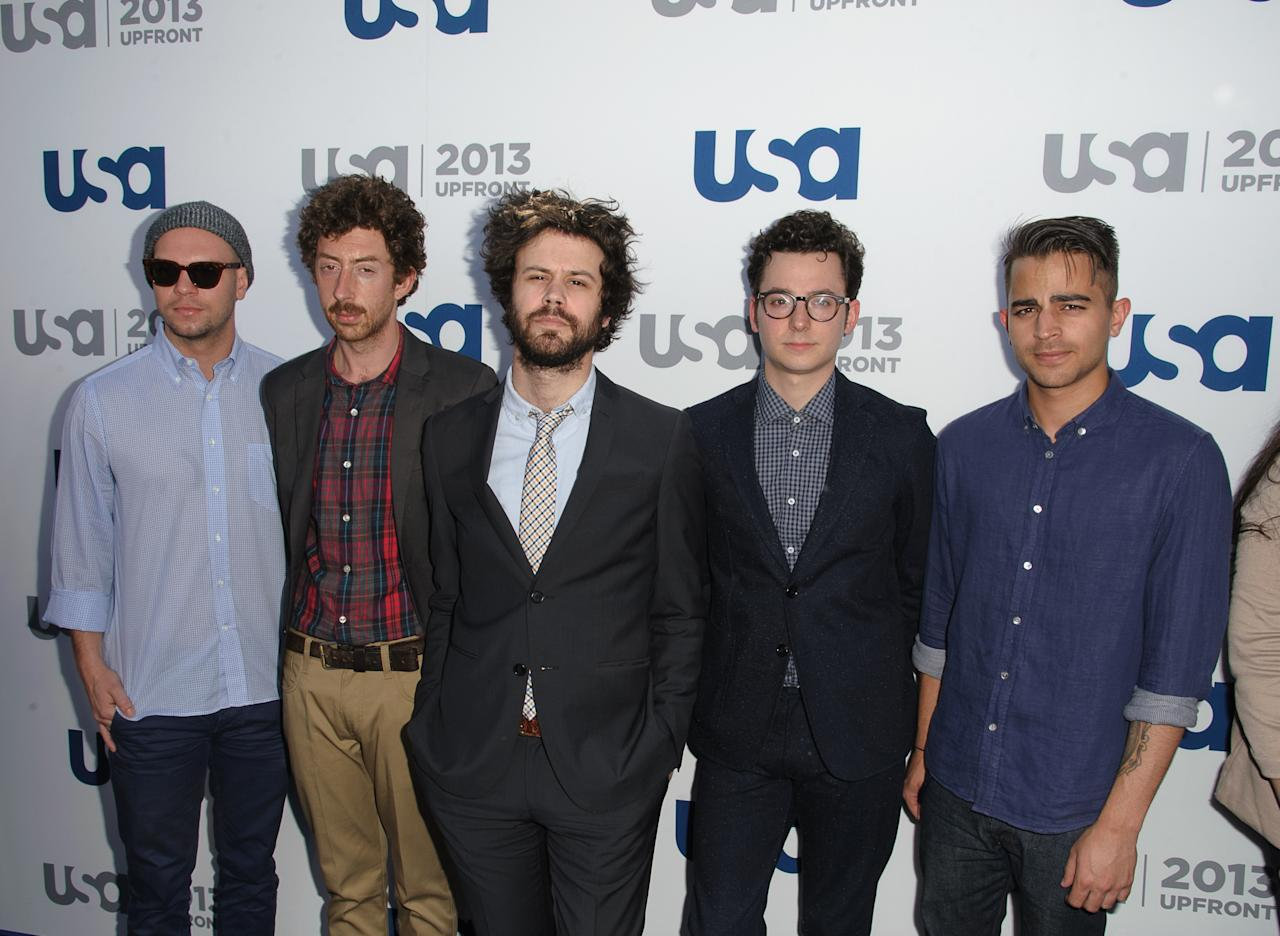 NEW YORK, NY - MAY 16:  Passion Pit attends USA Network 2013 Upfront Event at Pier 36 on May 16, 2013 in New York City.  (Photo by Dave Kotinsky/Getty Images)