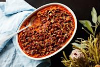 """<p><em><strong>In Epi's <a href=""""http://www.epicurious.com/tag/3-ingredient-recipes?mbid=synd_yahoo_rss"""" rel=""""nofollow noopener"""" target=""""_blank"""" data-ylk=""""slk:3-Ingredient Recipes"""" class=""""link rapid-noclick-resp"""">3-Ingredient Recipes</a> series, we show you how to make great food with just three ingredients (plus staples like oil, salt, and pepper).</strong></em></p> <p>Maple syrup pumps up the flavor of puréed sweet potatoes and provides a sweet glaze for extra-peppery candied pecans in this classic Thanksgiving side.</p> <a href=""""https://www.epicurious.com/recipes/food/views/3-ingredient-sweet-potato-casserole-with-maple-pecans?mbid=synd_yahoo_rss"""" rel=""""nofollow noopener"""" target=""""_blank"""" data-ylk=""""slk:See recipe."""" class=""""link rapid-noclick-resp"""">See recipe.</a>"""