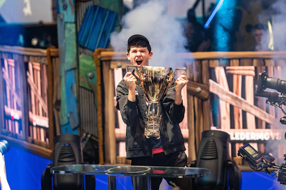 """16-year-old Kyle """"Bugha"""" Giersdorf won the Fortnite World Cup on Sunday afternoon in New York, taking home a $3 million prize."""