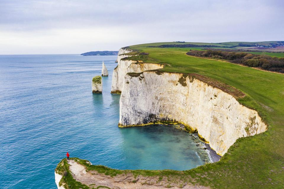 The cliffs at Old Harry Rocks in Dorset.
