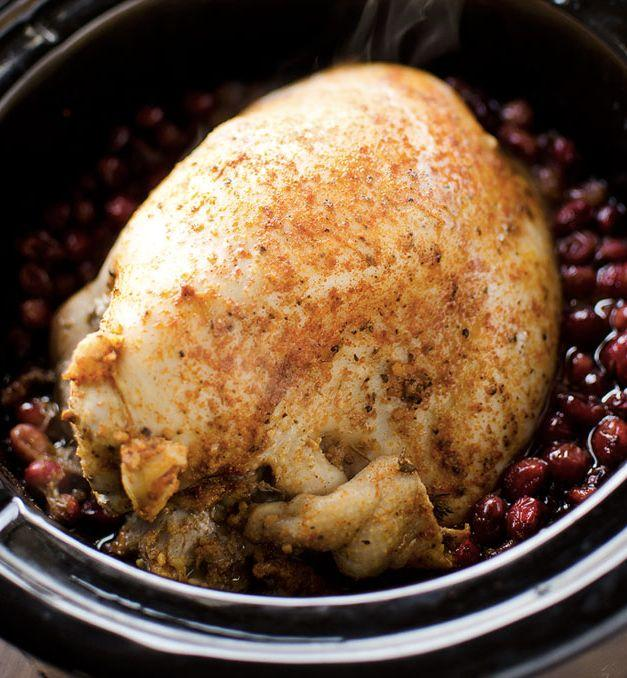 "<strong>Get the <a href=""http://www.thecreativebite.com/crock-pot-turkey-breast-cranberry-sauce/"">Slow Cooker Turkey Breast In Cranberry Sauce recipe</a> from The Creative Bite</strong>"