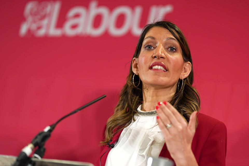 DURHAM, ENGLAND - FEBRUARY 23: Dr Rosena Allin-Khan, MP for Tooting speaks during the Labour Party Deputy Leadership hustings at the Radisson Blu Hotel on February 23, 2020 in Durham, England. Ian Murray, Angela Rayner, Richard Burgon, Dr Rosena Allin-Khan and Dawn Butler are vying to become Labour's deputy leader following the departure of Tom Watson, who stood down in November last year. The ballot will open to party members and registered and affiliated supporters on February 24. (Photo by Ian Forsyth/Getty Images)