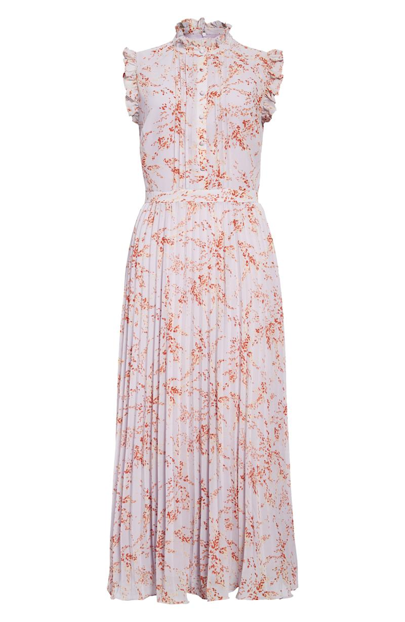 CHELSEA28 Floral Print Pleated Dress