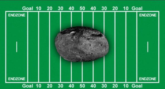 Asteroid 2012 DA14 is about the size of half a football field and will make a close approach to Earth on Feb. 15.