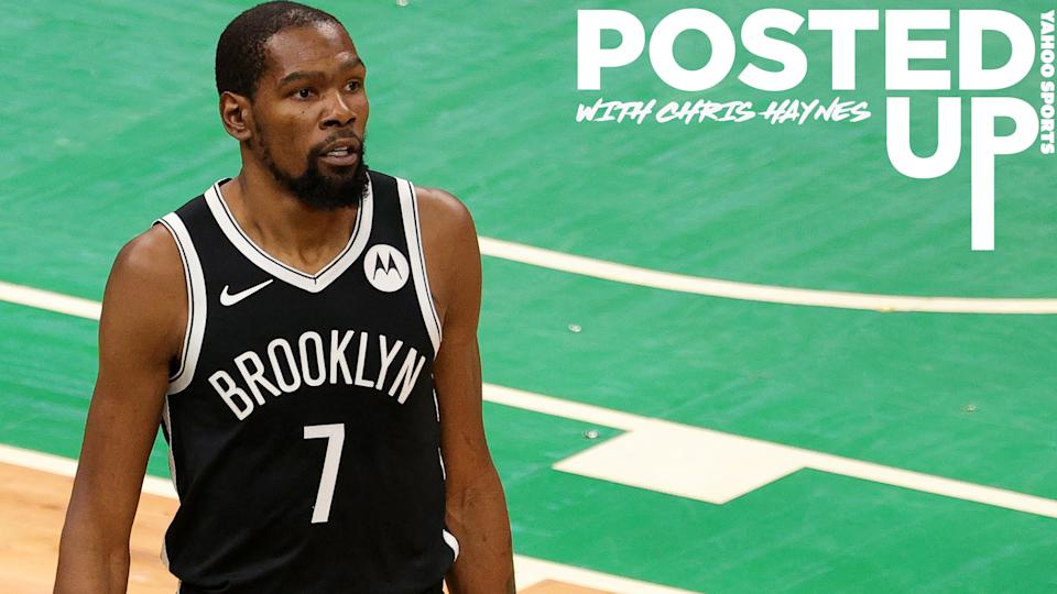 Kevin Durant is set to make his regular season debut for the Brooklyn Nets on Tuesday night. (Photo by Maddie Meyer/Getty Images)