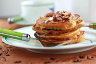 """<div class=""""caption-credit"""">Photo by: Overtime Cook</div><div class=""""caption-title"""">Healthy Oatmeal Pumpkin Pancakes</div><br><br>What are you going to make for a healthy winter weekend breakfast? You are going to make these pancakes. <br> <br> <b>Recipe: <a href=""""http://overtimecook.com/2012/11/06/healthy-oatmeal-pumpkin-pancakes/#"""" rel=""""nofollow noopener"""" target=""""_blank"""" data-ylk=""""slk:Healthy Oatmeal Pumpkin Pancakes"""" class=""""link rapid-noclick-resp"""">Healthy Oatmeal Pumpkin Pancakes</a></b> <br>"""