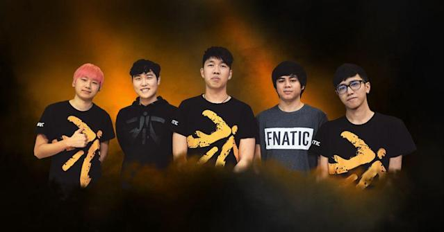 Fnatic's newest roster has been called the SEA Super Team. (Fnatic)