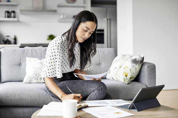 """<p>The first piece of information you need to figure out is how much money you take home each month. """"If you're saving for your 401K and such, take your net take-home pay after taxes, and then budget off of that number,"""" recommends Storjohann. Don't forget to include any supplementary sources of income, like if you have a side hustle or you regularly receive money from a parent. Basically, this step is all about having a super clear picture of how much money you can rely on in a given month.</p>"""