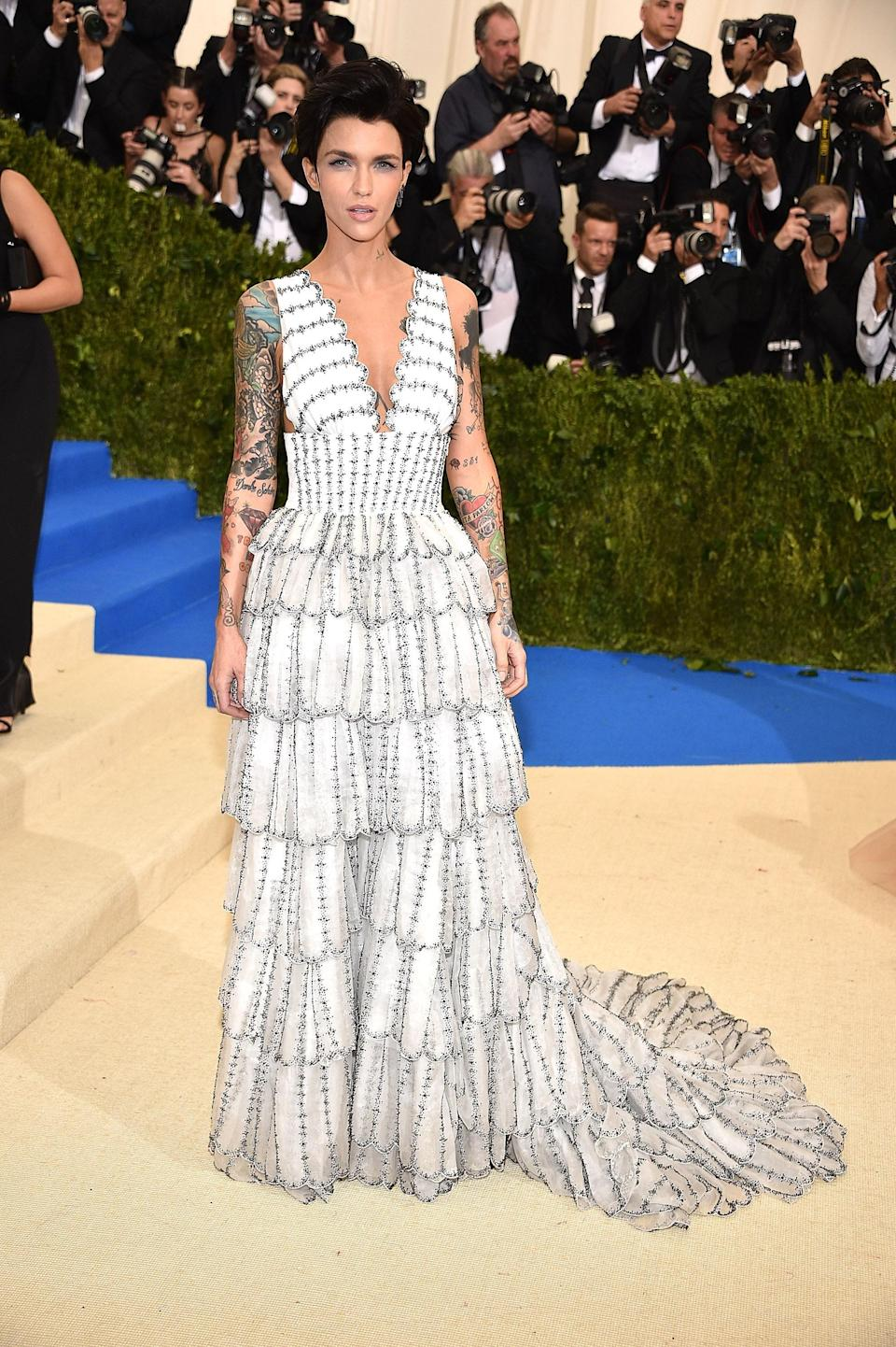 """<h1 class=""""title"""">Ruby Rose in Burberry</h1> <cite class=""""credit"""">Photo: Getty Images</cite>"""