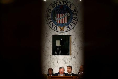 FILE PHOTO: Chairman of the Senate Intelligence Committee Richard Burr (R-NC) listens to testimonies during a hearing about Russian interference in U.S. elections in Washington, U.S., June 21, 2017.   REUTERS/Joshua Roberts/File Photo