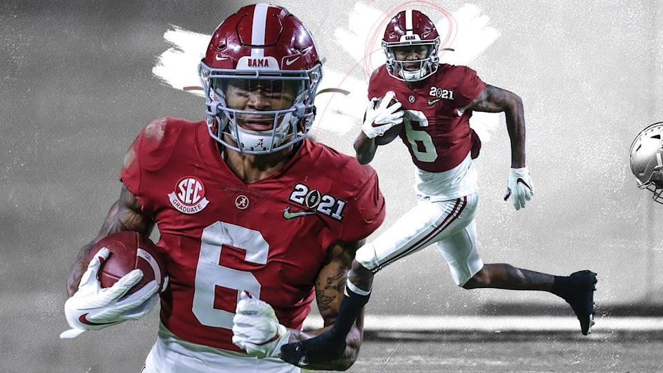 DeVonta Smith Alabama treated art