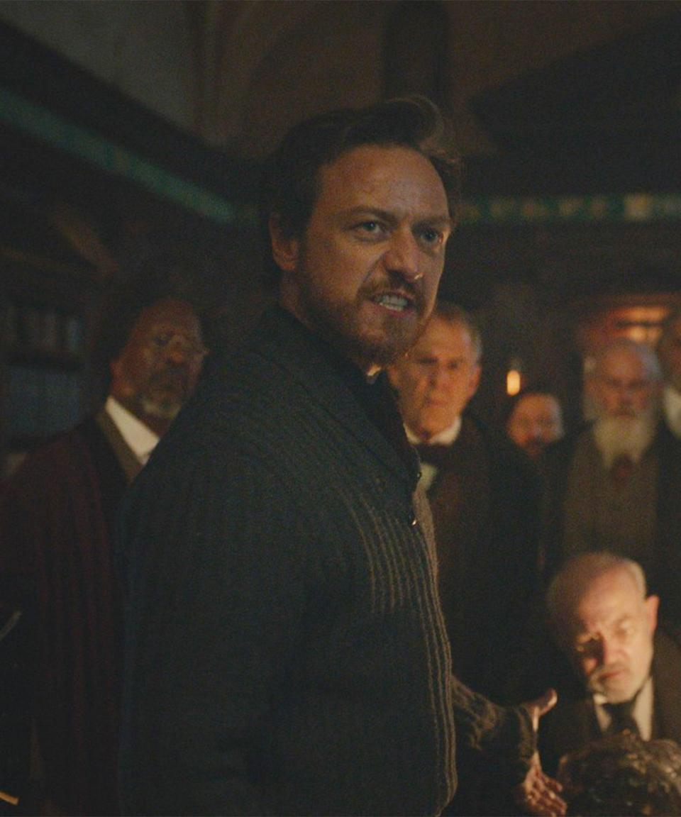 """<strong><h2>James McAvoy Plays Lord Asriel Belacqua<br></h2></strong> <br> <strong>Who Is Lord Asriel?<br></strong>A member of the aristocracy in a parallel universe which is run by the Church. At the beginning of the novels, he is a highly respected member of the """"Brytish"""" aristocracy. And before the events of the novels, he had an affair with Marisa Coulter and is Lyra's birth father. When Mrs. Coulter's husband finds out about the affair, Lord Asriel kills him in order to protect Lyra. He takes Lyra to his alma mater, Jordan College. <br> <br> <strong>Where You've Seen McAvoy<br></strong>If you grew up in the 2000s, McAvoy is definitely one of your former (or current) crushes. He also played Charles Xavier, aka Professor X, in a handful of recent <em>X-Men</em> movies. If you like your McAvoy scary, he played Kevin Wendell Crumb in the <em>Unbreakable</em> trilogy and also Bill Denbrough in <em>IT Chapter Two</em>. <span class=""""copyright"""">Photo: Courtesy of HBO.</span>"""