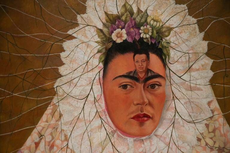"""The Frida Kahlo exhibition in London includes this 1943 painting entitled """"Self-portrait as a Tehuana"""""""