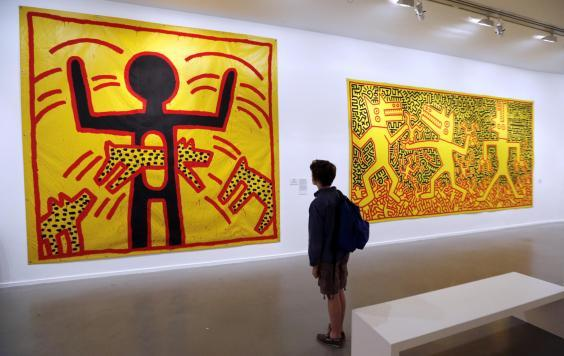 Keith Haring's biggest UK exhibition to date opens at Tate Liverpool on 14 June 2019 (FRANCOIS GUILLOT/AFP/Getty )