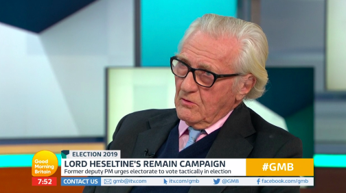Lord Heseltine on Good Morning Britain on Tuesday
