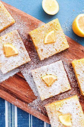 """<p>These bars are the perfect make ahead dessert. They need a long chill time, so pop 'em in the fridge and leave them overnight. The next day, you'll be rewarded with perfectly set squares. (Plus, if you're like me, you prefer lemon bars cold.) </p><p>Get the <a href=""""https://www.delish.com/uk/cooking/recipes/a32751794/easy-lemon-bars-recipe/"""" rel=""""nofollow noopener"""" target=""""_blank"""" data-ylk=""""slk:Lemon Bars"""" class=""""link rapid-noclick-resp"""">Lemon Bars</a> recipe. </p>"""