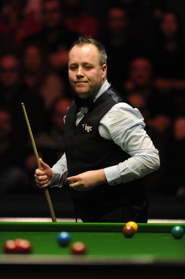 John Higgins of Scotland pictured during his match against Shaun Murphy of England during the semi-final match in the BGC Masters snooker tournament at Alexandra Palace in north London on January 21, 2012. AFP PHOTO / CARL COURT (Photo credit should read CARL COURT/AFP/Getty Images)