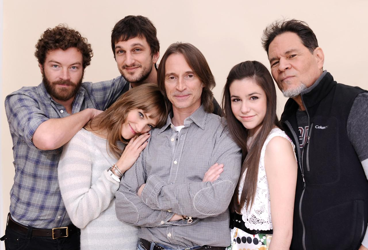 PARK CITY, UT - JANUARY 24:  Actors Danny Masterson, Alexia Rasmussen, Robert Carlyle, writer/director Marshall Lewy, actors Savannah Lathem and A. Martinez pose for a portrait during the 2012 Sundance Film Festival at the Getty Images Portrait Studio at T-Mobile Village at the Lift on January 24, 2012 in Park City, Utah.  (Photo by Larry Busacca/Getty Images)