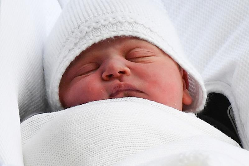 Britain's Prince Louis was born on April 24- St. George's Day England's national day- at St Mary's hospital in central London