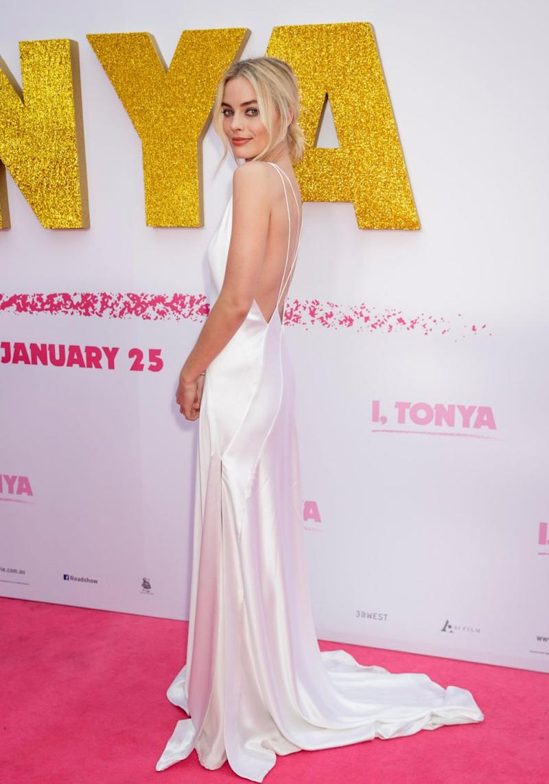 Margot Robbie has come a long way since her Neighbours days. She is pictured here at the I, Tonya Sydney premiere. Source: Getty