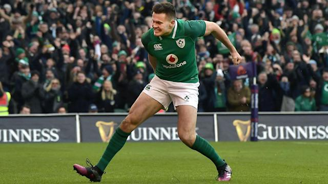 Ireland's record-breaking winger Jacob Stockdale has been named as the Six Nations Player of the Championship.