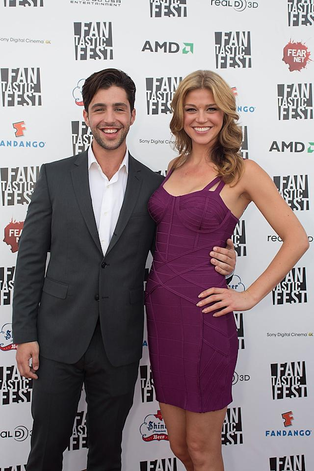 """Josh Peck and Adrianne Palicki at the Fantastic Fest premiere of """"Red Dawn"""" on Septemeber 27, 2012."""