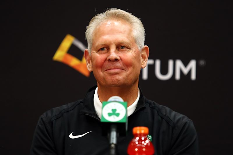 Danny Ainge said he is the only one still working out of the Celtics' facility, despite the NBA banning all staff and players from them last week.