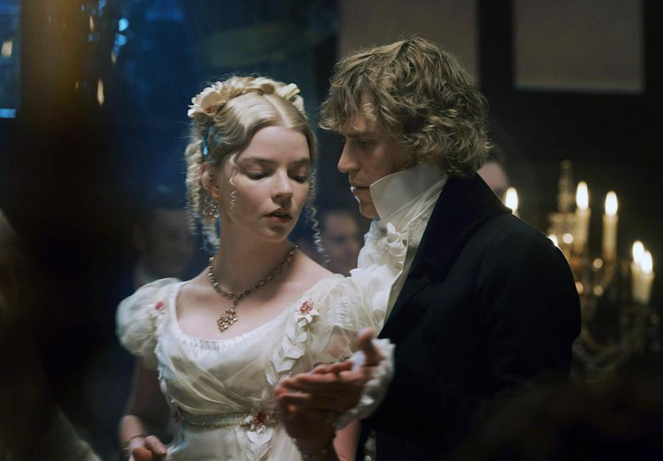"<p>Autumn de Wilde's candy-colored adaptation of <strong>Emma</strong> captures the delicious yearning of an Austen novel better than any version in years. Not only is there a slow-burn romance between entitled Emma and her exasperated love interest Mr. Knightley, but, like <strong>Pride and Prejudice</strong>, a good portion of the story also hinges on its heroine coming to terms with her own flaws. (Plus, if you love the tension-laden ballroom scene from <strong>Pride and Prejudice</strong>, there's another scene for you here!)</p> <p><a href=""https://www.hbomax.com/feature/urn:hbo:feature:GXzFhvgfnbgLCOAEAAAdS"" class=""link rapid-noclick-resp"" rel=""nofollow noopener"" target=""_blank"" data-ylk=""slk:Watch Emma. on HBO Max"">Watch <strong>Emma.</strong> on HBO Max</a>.</p>"