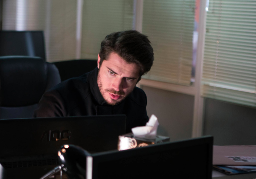 <p>Adam gets into the factory with Alya's help and is soon trying to log in to Johnny's computer. But things don't go to plan when the Connors arrive. Has Alya stitched him up? </p>