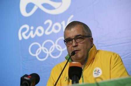 FILE PHOTO - Rio 2016 Olympics communicatons director Mario Andrada gives a news conference at the Deodoro Olympic Equestrian Center, in Rio de Janeiro, Brazil, August 6, 2016. REUTERS/Tony Gentile