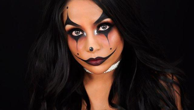 """<p>No cheesy clown colors needed for this sultry clown look. Instead, round up your <a href=""""https://go.redirectingat.com?id=74968X1596630&url=https%3A%2F%2Fwww.skinstore.com%2Fmdmflow-semi-matte-lipstick-3.8g-various-shades%2F11276677.html&sref=https%3A%2F%2Fwww.cosmopolitan.com%2Fstyle-beauty%2Fbeauty%2Fg33247158%2Fcute-clown-halloween-makeup-tutorials%2F"""" rel=""""nofollow noopener"""" target=""""_blank"""" data-ylk=""""slk:deep red lipstick"""" class=""""link rapid-noclick-resp"""">deep red lipstick</a>, <a href=""""https://go.redirectingat.com?id=74968X1596630&url=https%3A%2F%2Fwww.ulta.com%2Feveryday-smoky-eyeshadow-palette%3FproductId%3DxlsImpprod17401111&sref=https%3A%2F%2Fwww.cosmopolitan.com%2Fstyle-beauty%2Fbeauty%2Fg33247158%2Fcute-clown-halloween-makeup-tutorials%2F"""" rel=""""nofollow noopener"""" target=""""_blank"""" data-ylk=""""slk:smokey eyeshadow palette"""" class=""""link rapid-noclick-resp"""">smokey eyeshadow palette</a>, and <a href=""""https://go.redirectingat.com?id=74968X1596630&url=https%3A%2F%2Fwww.ulta.com%2Fafrodisiac-cleopatra-ink-liquid-eyeliner%3FproductId%3Dpimprod2006197&sref=https%3A%2F%2Fwww.cosmopolitan.com%2Fstyle-beauty%2Fbeauty%2Fg33247158%2Fcute-clown-halloween-makeup-tutorials%2F"""" rel=""""nofollow noopener"""" target=""""_blank"""" data-ylk=""""slk:black eyeliner"""" class=""""link rapid-noclick-resp"""">black eyeliner</a>. You know the drill: start with your eye makeup look of choice, <strong>use the liner to draw the points above your brows and below your eyes</strong>, and finish with <a href=""""https://www.cosmopolitan.com/style-beauty/beauty/a20721796/how-to-overdraw-lips/"""" rel=""""nofollow noopener"""" target=""""_blank"""" data-ylk=""""slk:overdrawn lips"""" class=""""link rapid-noclick-resp"""">overdrawn lips</a>.</p><p><a href=""""https://www.instagram.com/p/BLvSTh0A69b/?utm_source=ig_embed&utm_campaign=loading"""" rel=""""nofollow noopener"""" target=""""_blank"""" data-ylk=""""slk:See the original post on Instagram"""" class=""""link rapid-noclick-resp"""">See the original post on Instagram</a></p>"""