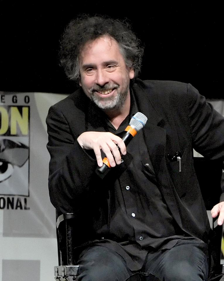 """SAN DIEGO, CA - JULY 12:  Director/producer Tim Burton speaks at the """"Frankenweenie"""" panel during Comic-Con International 2012 at San Diego Convention Center on July 12, 2012 in San Diego, California.  (Photo by Kevin Winter/Getty Images)"""