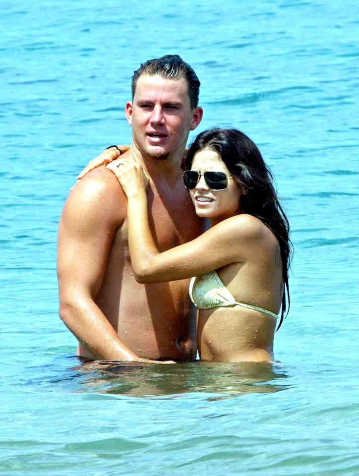 "Recently engaged ""Step Up"" costars Channing Tatum and Jenna Dewan get cozy in the ocean during a vacay in Hawaii. FS/<a href=""http://www.x17online.com"" target=""new"">X17 Online</a> - September 11, 2008"