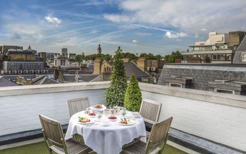 Stuart Procter has been eating his solitary meals on the roof terrace of the penthouse