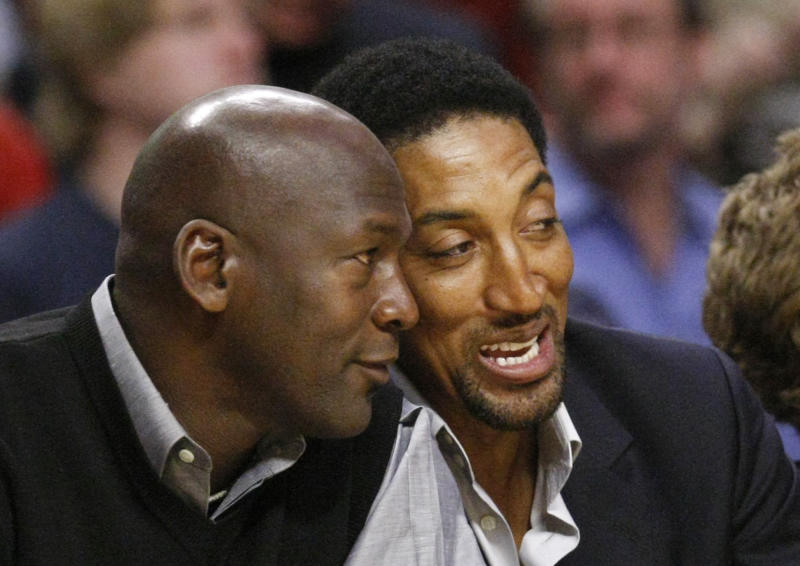 Even Michael Jordan acknowledged getting Scottie Pippen to return to the Bulls would be a hard sell. (AP Photo/Charles Rex Arbogast)