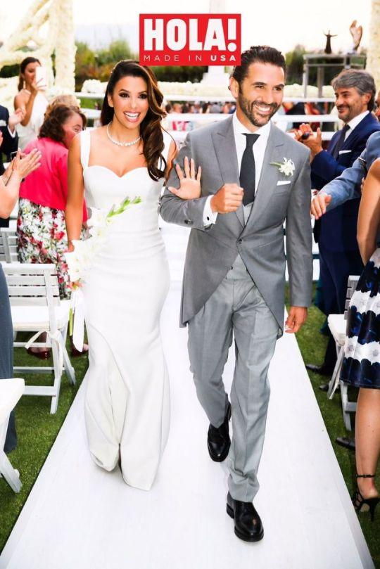 Eva Longoria And José Antonio Bastón Walk Down The Aisle