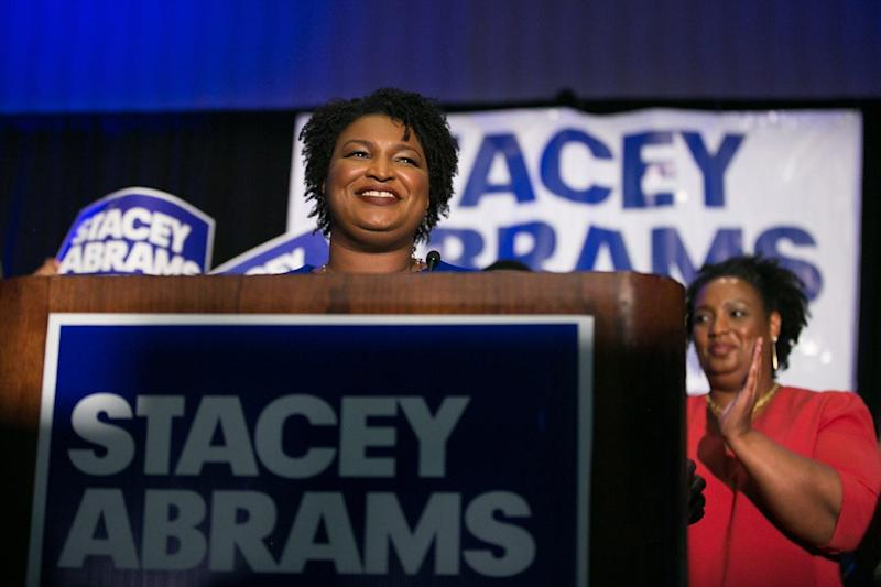 Stacey Abrams won Georgia's Democratic gubernatorial primary in May.