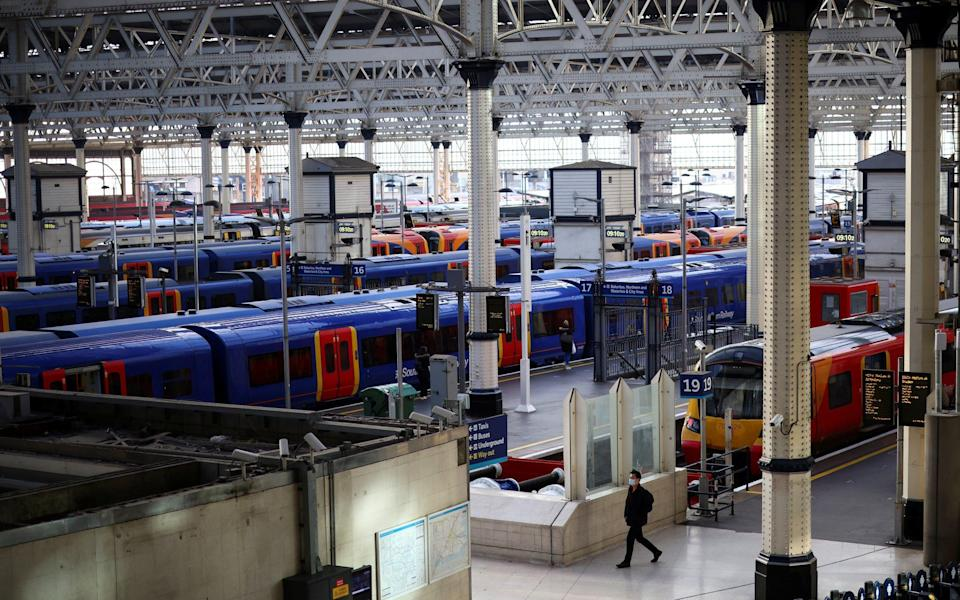Services out of London Waterloo are among the lines due to be closed or running reduced timetables between Christmas Day and New Year - Henry Nicholls/Reuters