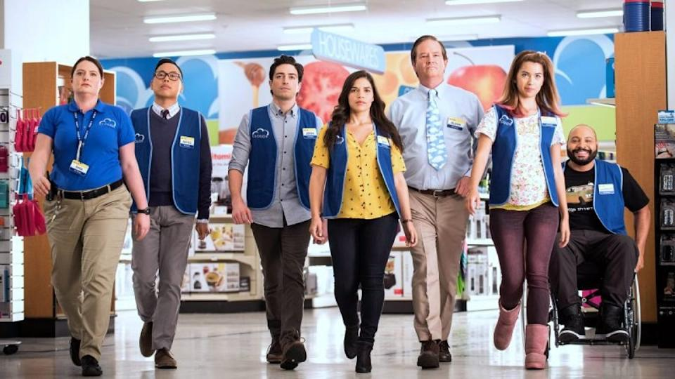 All six seasons, and 113 episodes, of Superstore are available on BINGE to help you deal with the inevitable hangovers lifted restrictions will bring. Picture: BINGE