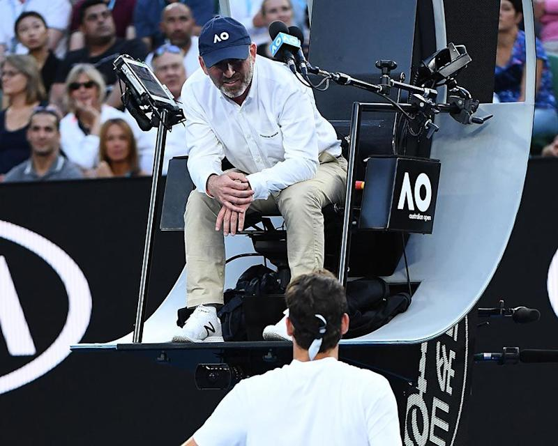 Federer wasn't happy with Murphy. Pic: Getty