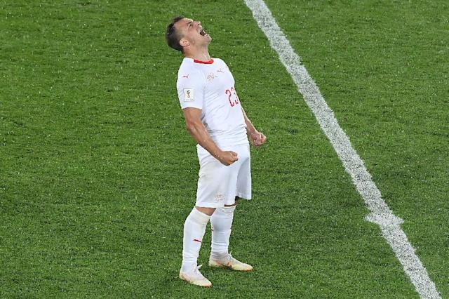 Xherdan Shaqiri was born in Kosovo but moved to Switzerland as a child (AFP Photo/Patrick HERTZOG)