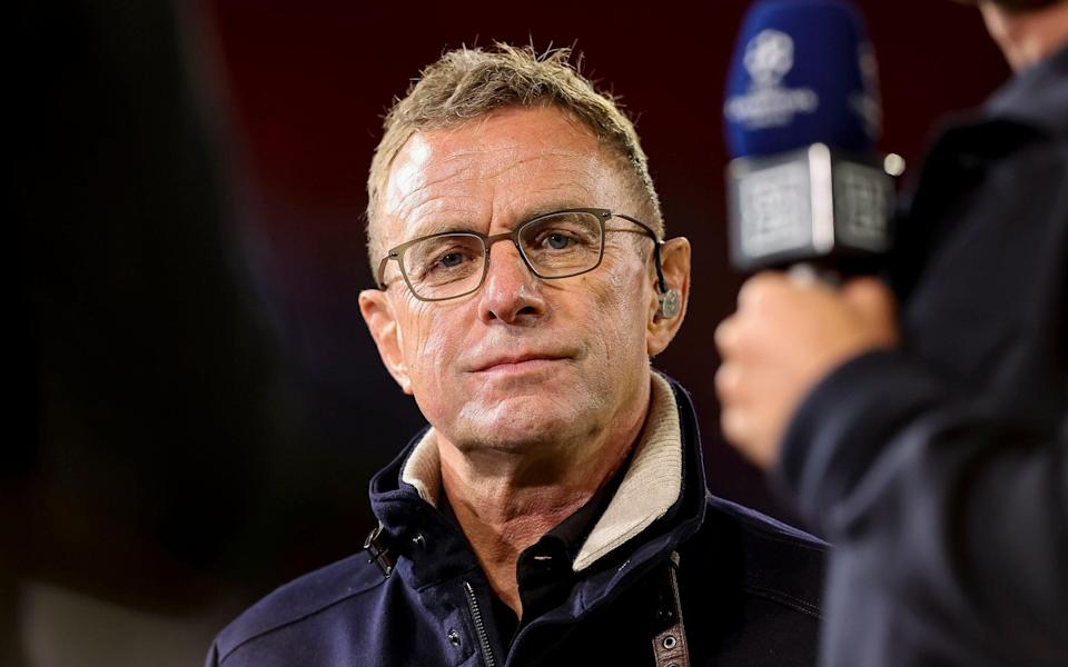 Ralf Rangnick looks on prior to the UEFA Champions League group E match between FC Bayern Muenchen and Dinamo Kiev - Getty Images