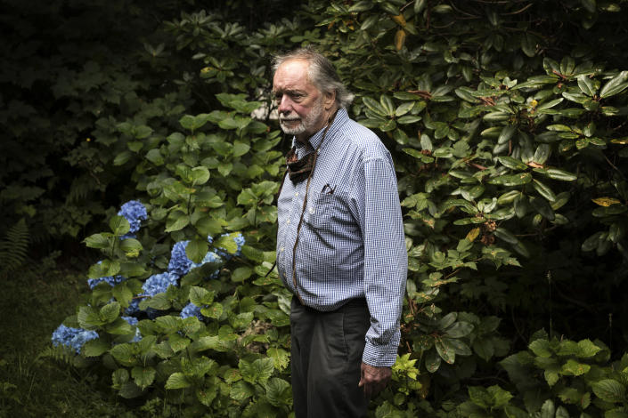 "Louis Druehl poses for a photo outside his home in Bamfield, on Vancouver Island. The 83-year-old botanist has been studying kelp since 1962 and was the first person to create a kelp farm outside of Asia. <span class=""copyright"">Melissa Renwick for TIME</span>"
