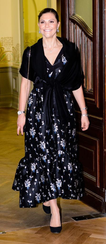 Crown Princess Victoria has previoiusly worn H&M, pictures in 2017. (Getty Images)