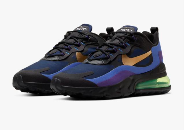 Nike Air Max 270 React (Black/Deep Royal Blue)